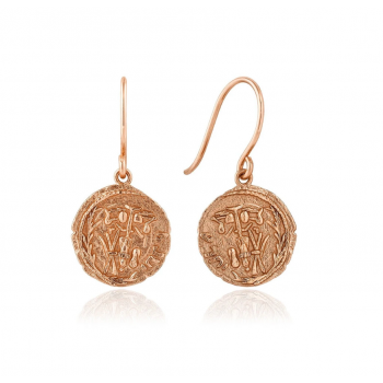 Earrings Coins Emblem