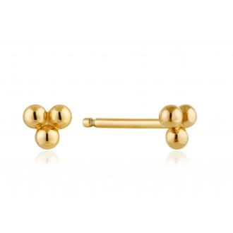 Earrings Modern Triple Ball