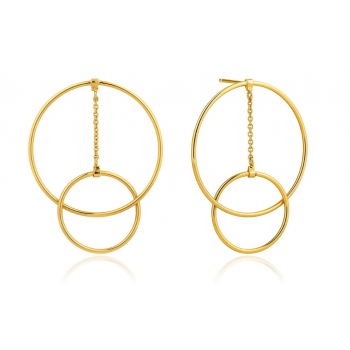 Earrings Modern Front Hoop