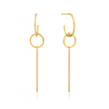 Earrings Modern Solid Drop