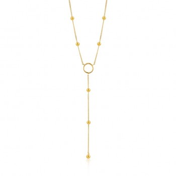 Necklace Modern Circle Y