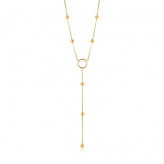 Necklace Modern Circle Y