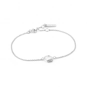 Silver Modern Circle Bracelet