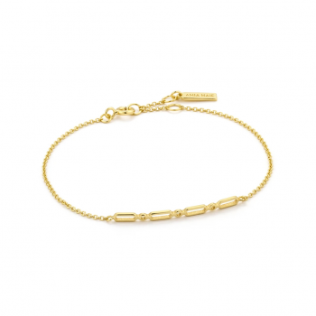 Gold Modern Solid Bar Bracelet