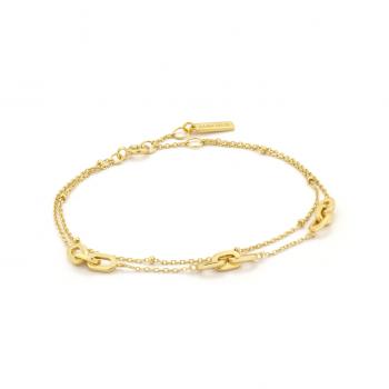 Gold Links Double Bracelet
