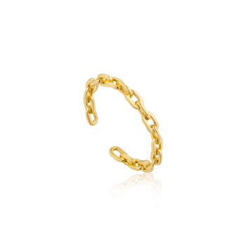 Gold Chain Adjustable Ring