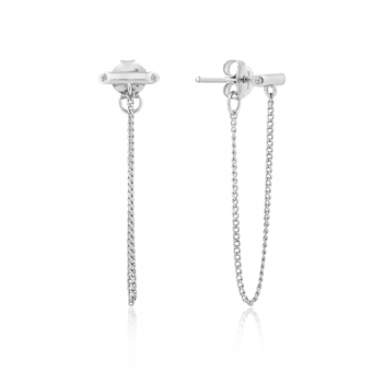 Silver Shimmer Chain Stud...