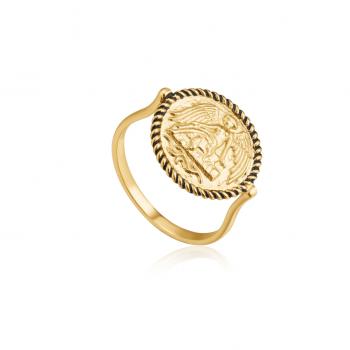 Gold Winged Goddess Ring