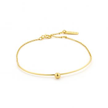 Gold Orbit Solid Bar Bracelet