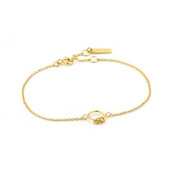 Gold Modern Circle Bracelet