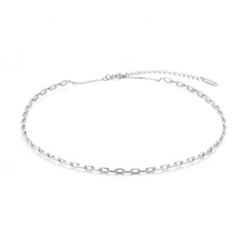 Silver Chain Solid Choker