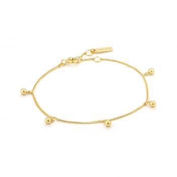 Gold Orbit Drop Balls Bracelet