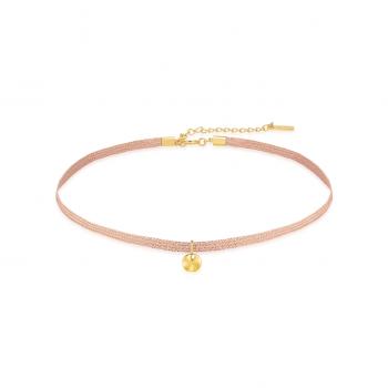 Gold Ripple Ribbon Choker