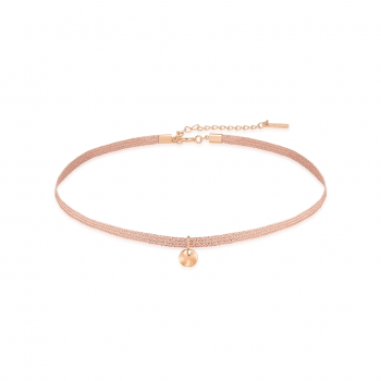 Rose Gold Ripple Ribbon Choker