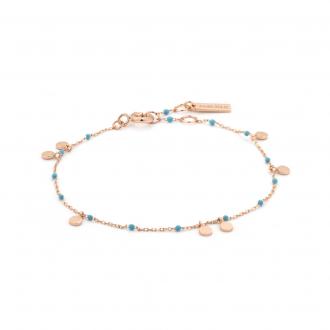 Rose Gold Dotted Drop Discs Bracelet