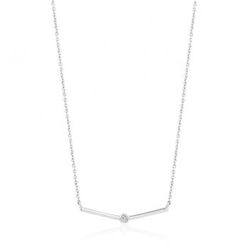 Shimmer Single Stud Necklace