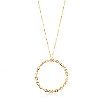 Gold Chain Circle Pendant...