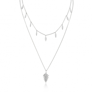Silver Tropic Double Necklace