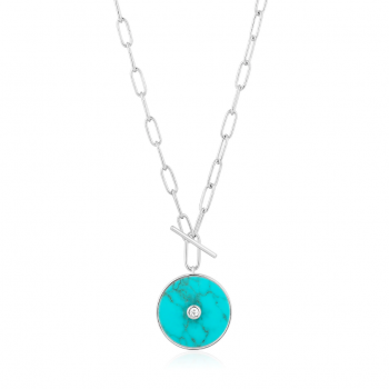 Silver Turquoise T-bar...