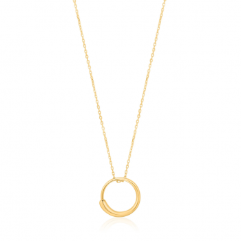 Gold Luxe Circle Necklace