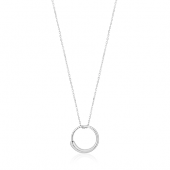 Silver Luxe Circle Necklace