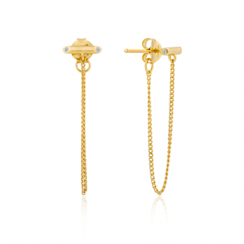 Gold Shimmer Chain Stud...