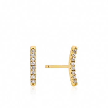 Gold Shimmer Pavé Bar Stud...